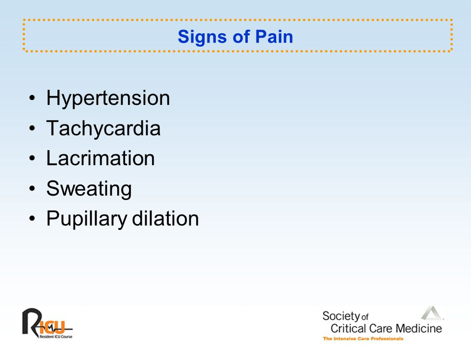 Hypertension Tachycardia Lacrimation Sweating Pupillary dilation