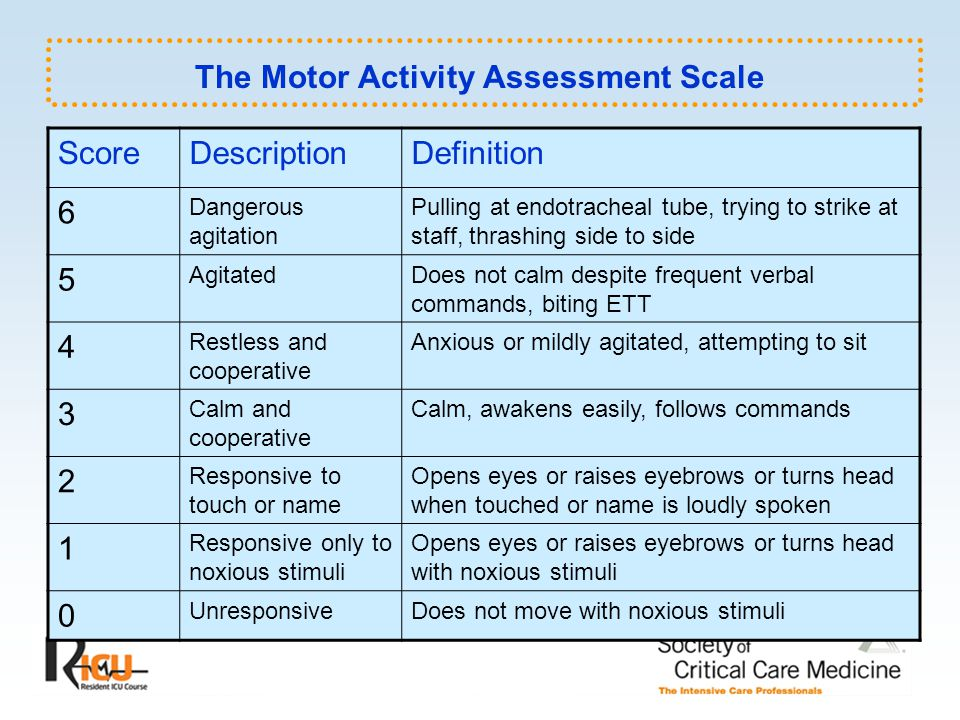 The Motor Activity Assessment Scale