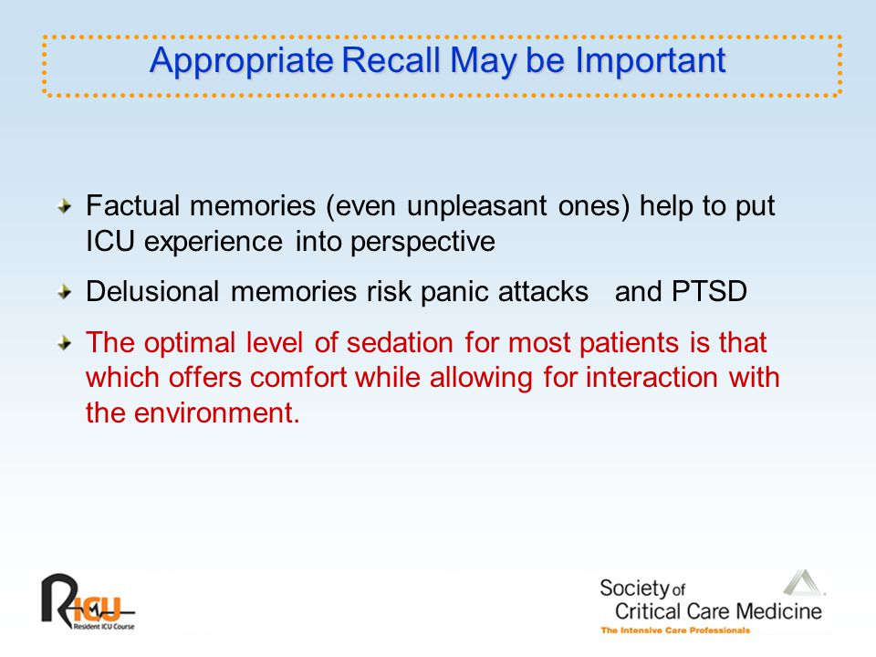 Appropriate Recall May be Important