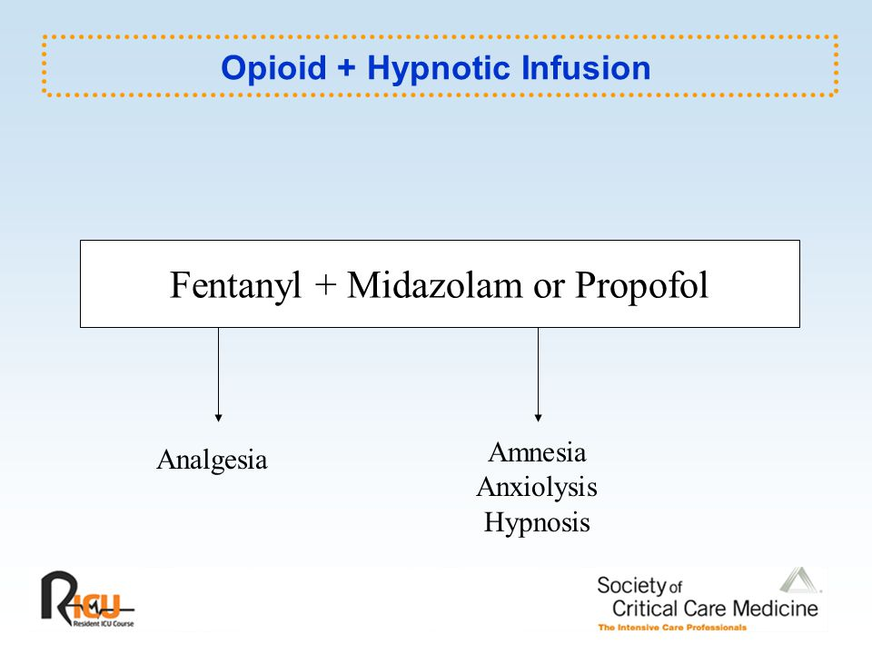 Opioid + Hypnotic Infusion
