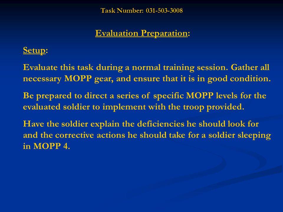 Evaluation Preparation: