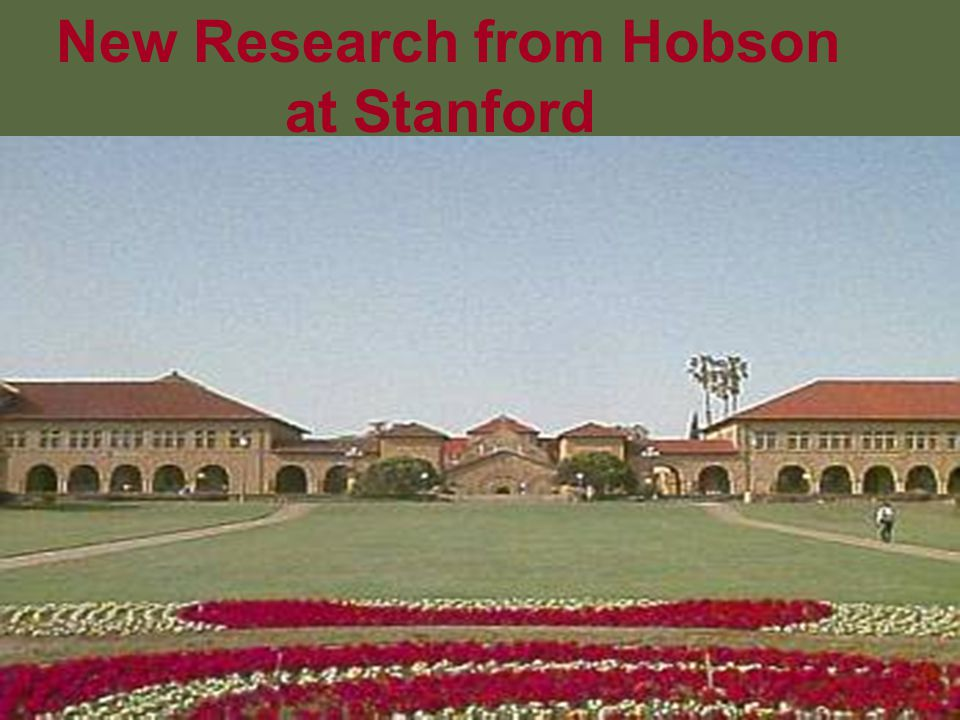New Research from Hobson at Stanford