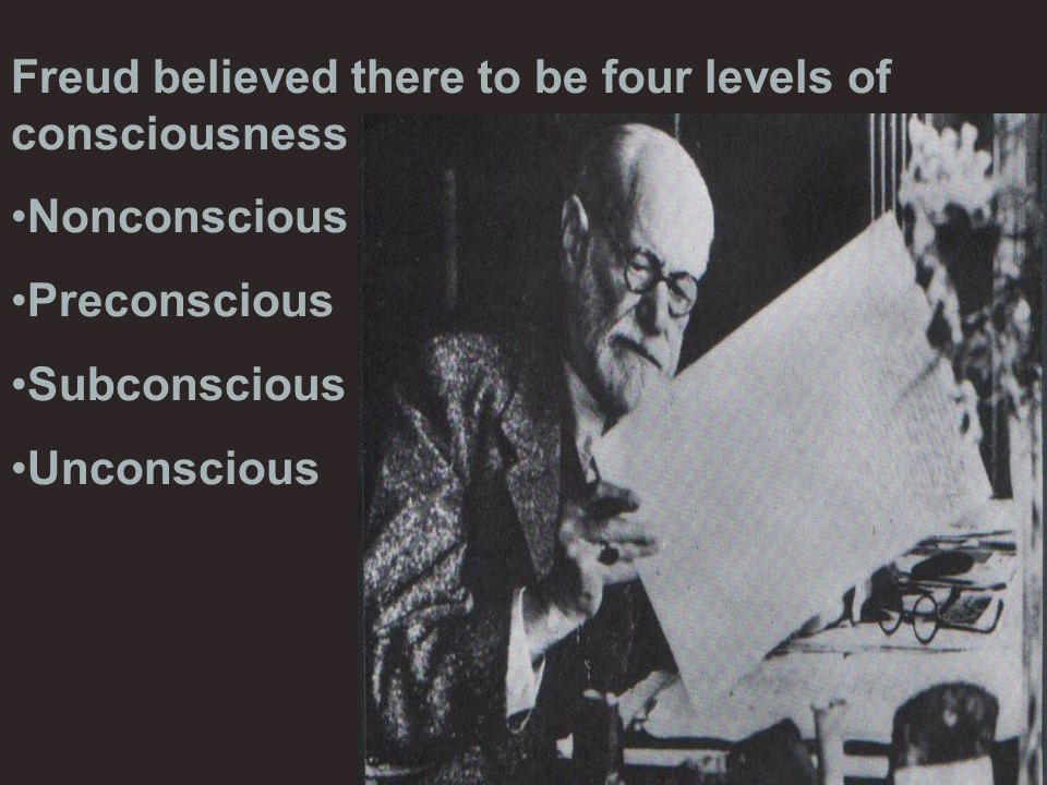 Freud believed there to be four levels of consciousness