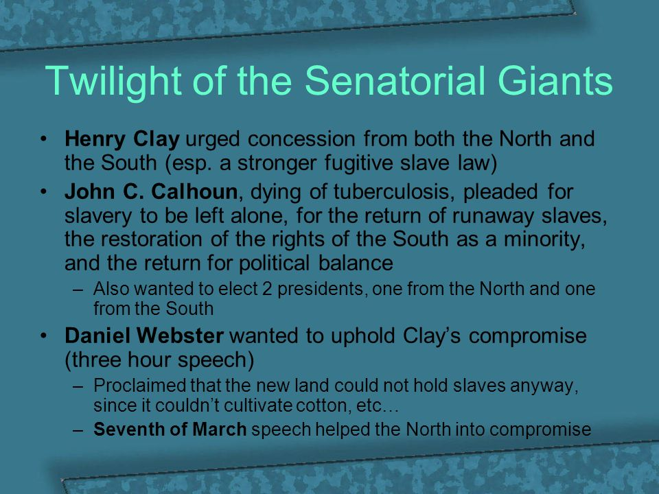 William Henry Seward's Higher Law Speech