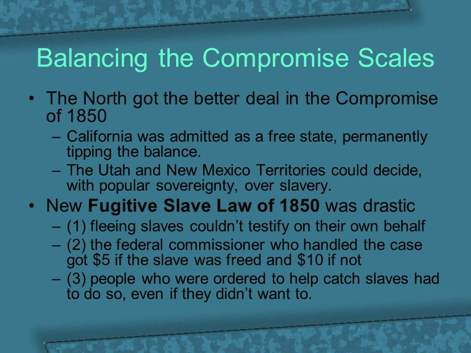 Balancing the Compromise Scales