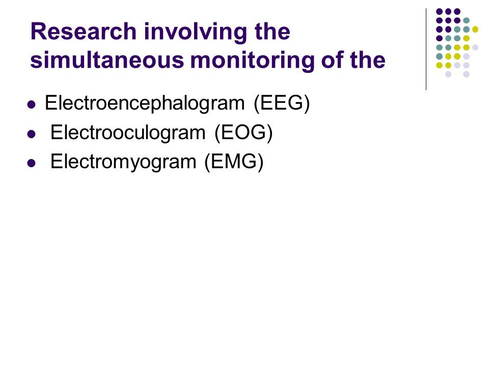Research involving the simultaneous monitoring of the