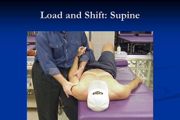 Load and Shift: Supine