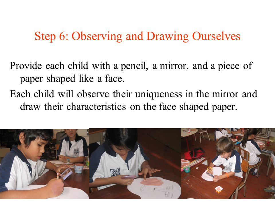 Step 6: Observing and Drawing Ourselves