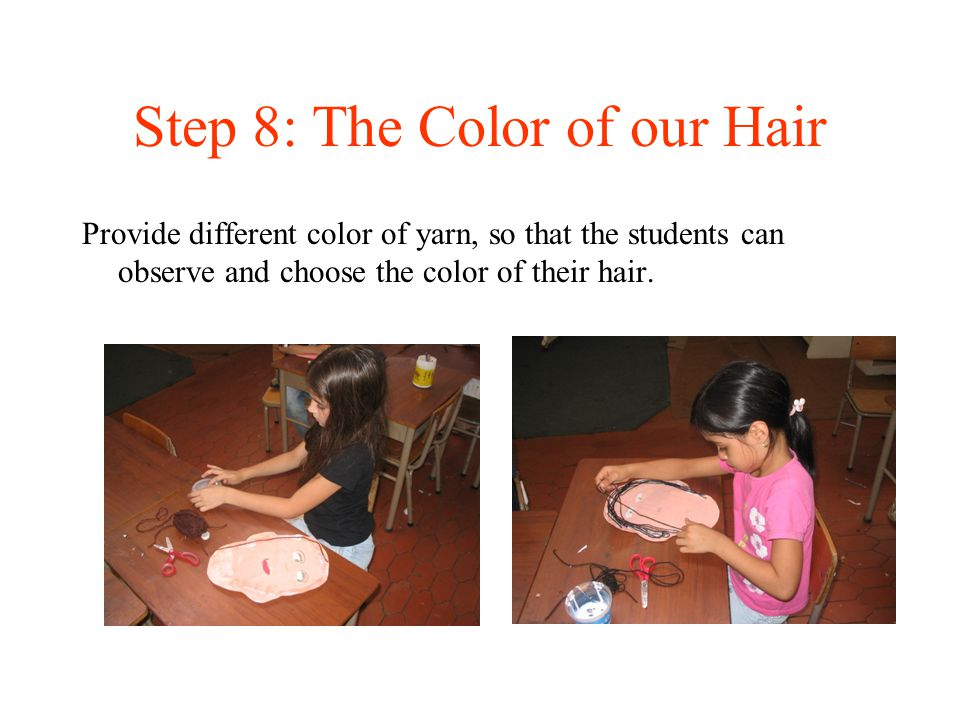 Step 8: The Color of our Hair