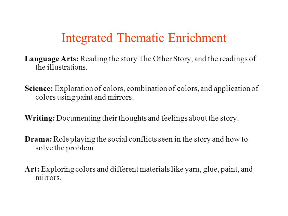 Integrated Thematic Enrichment