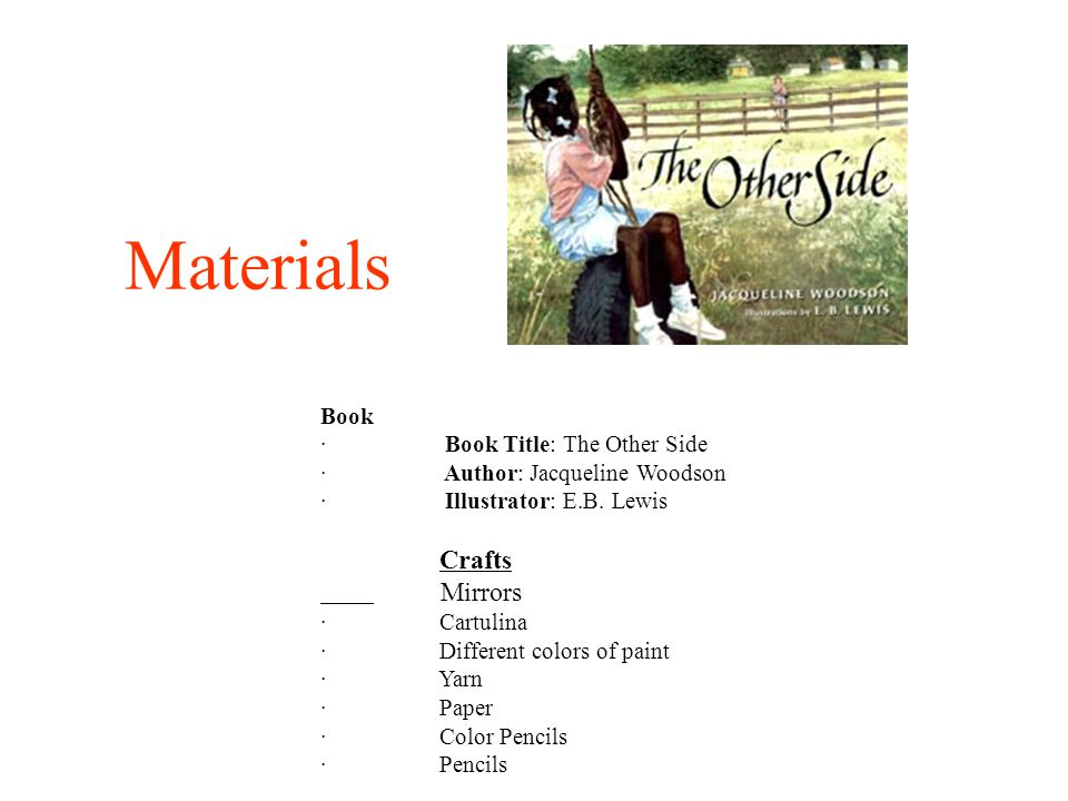 Materials Mirrors Book · Book Title: The Other Side