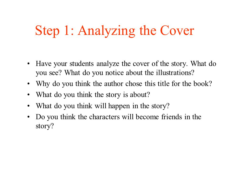 Step 1: Analyzing the Cover