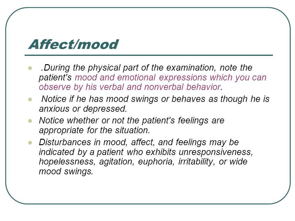 Affect/mood