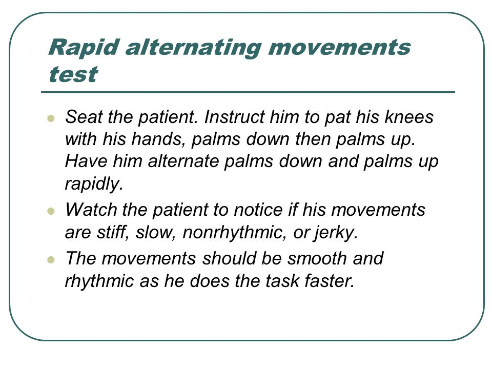 Rapid alternating movements test
