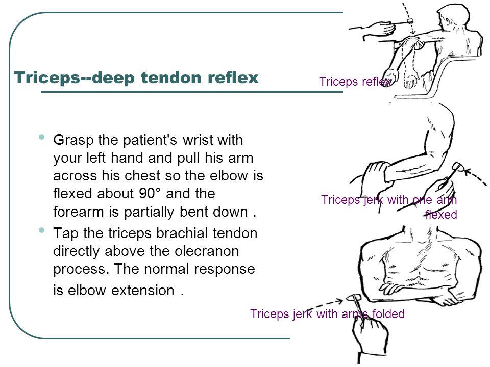 Triceps--deep tendon reflex