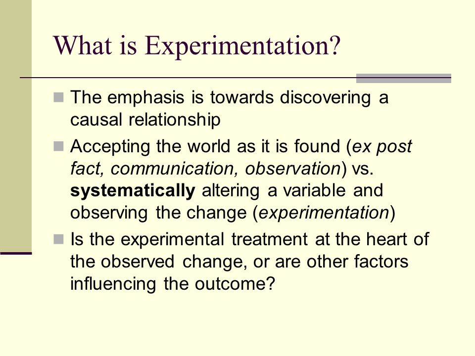 What is Experimentation