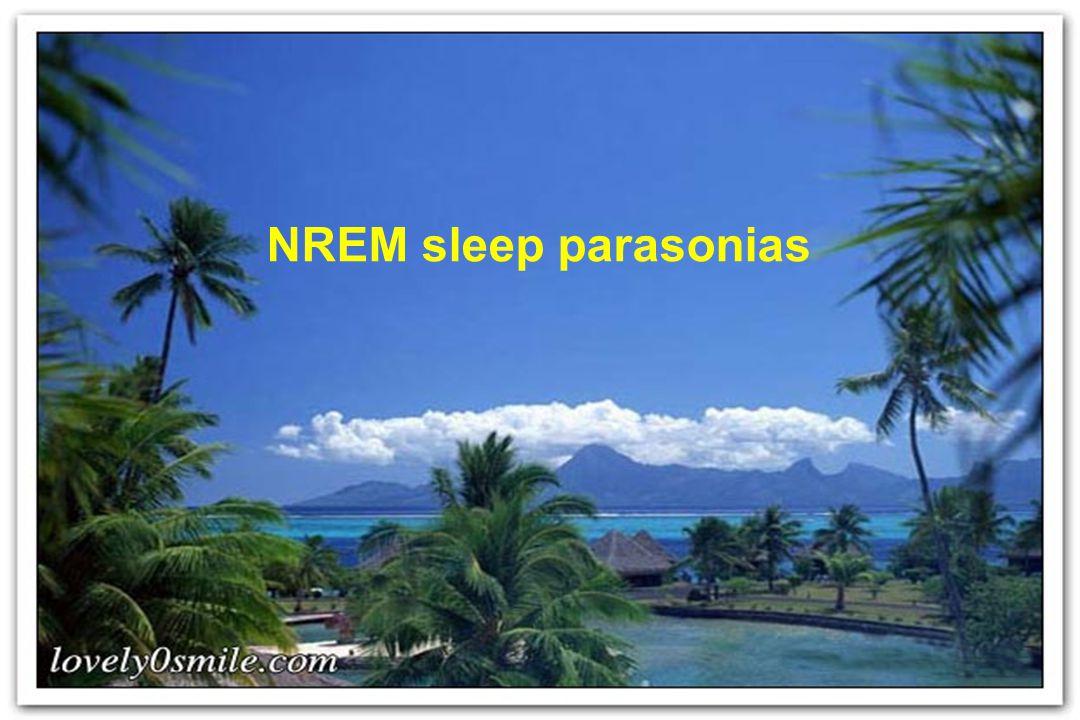 NREM sleep parasonias