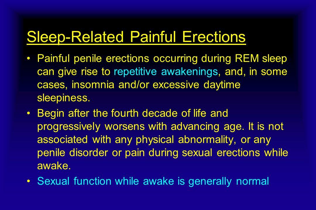 Sleep-Related Painful Erections