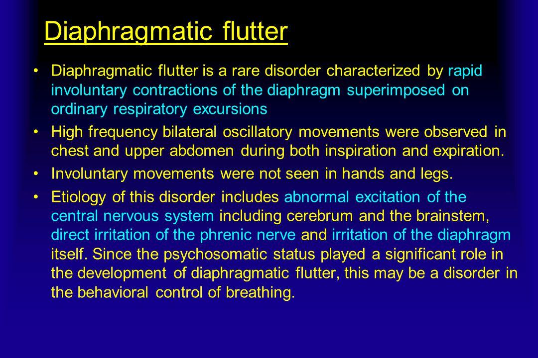 Diaphragmatic flutter