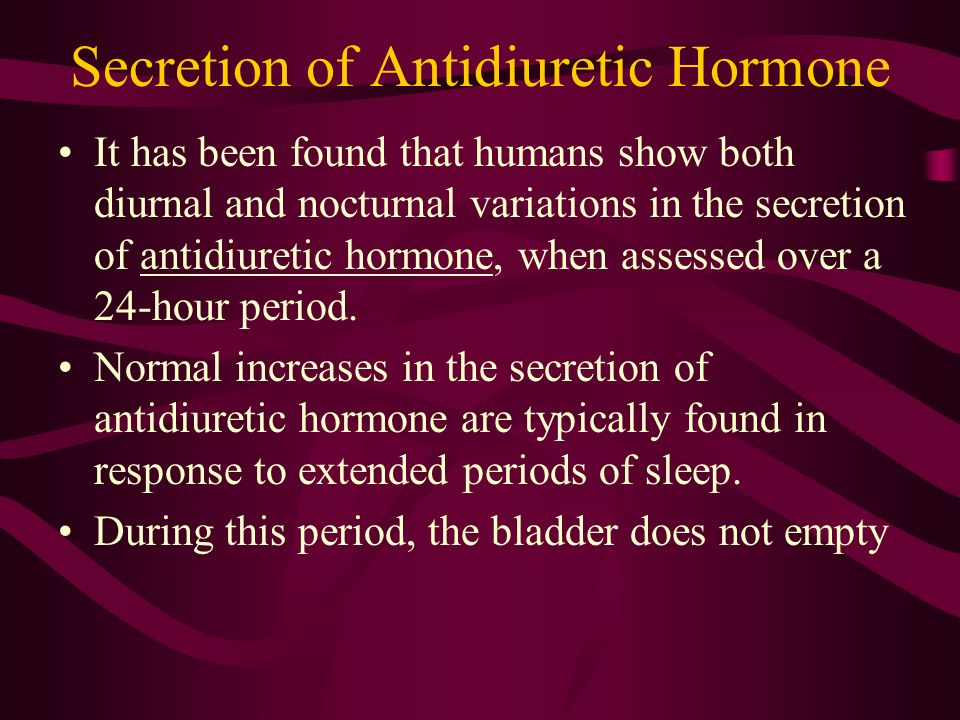 Secretion of Antidiuretic Hormone