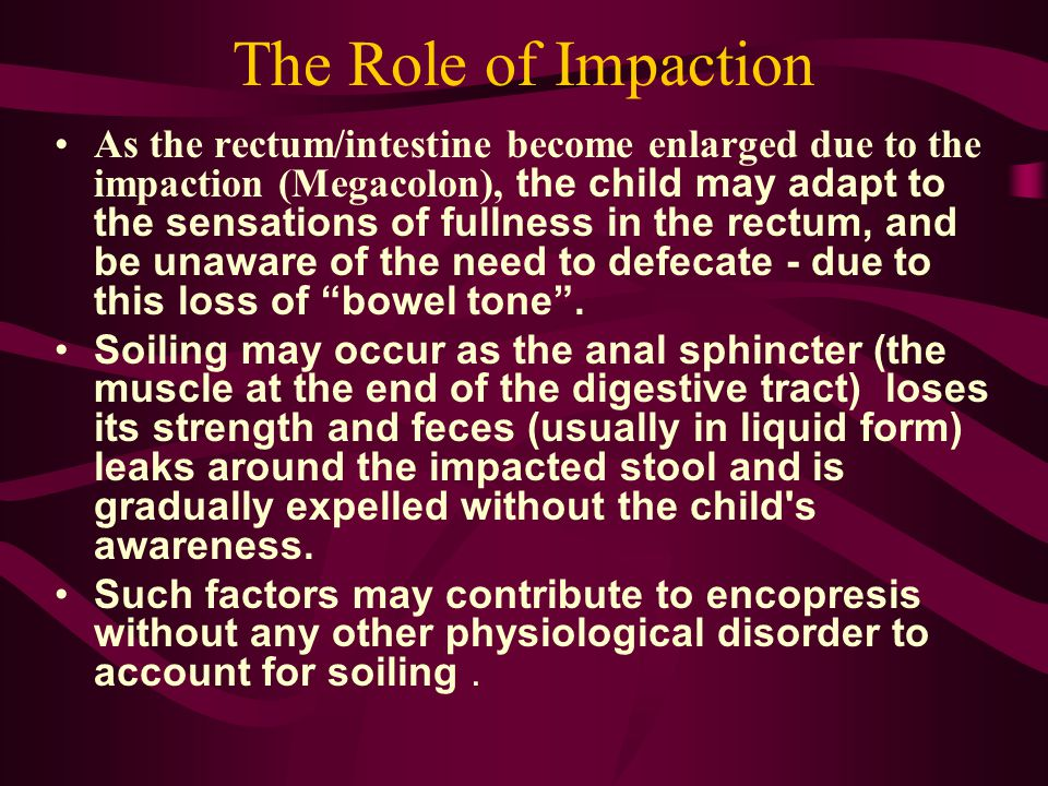 The Role of Impaction