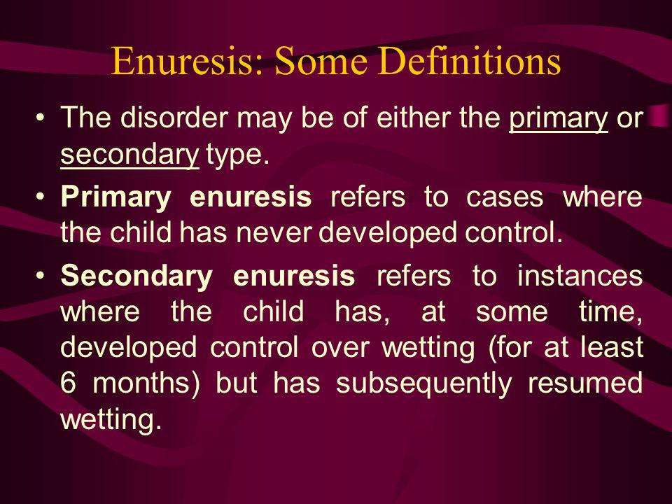 Enuresis: Some Definitions