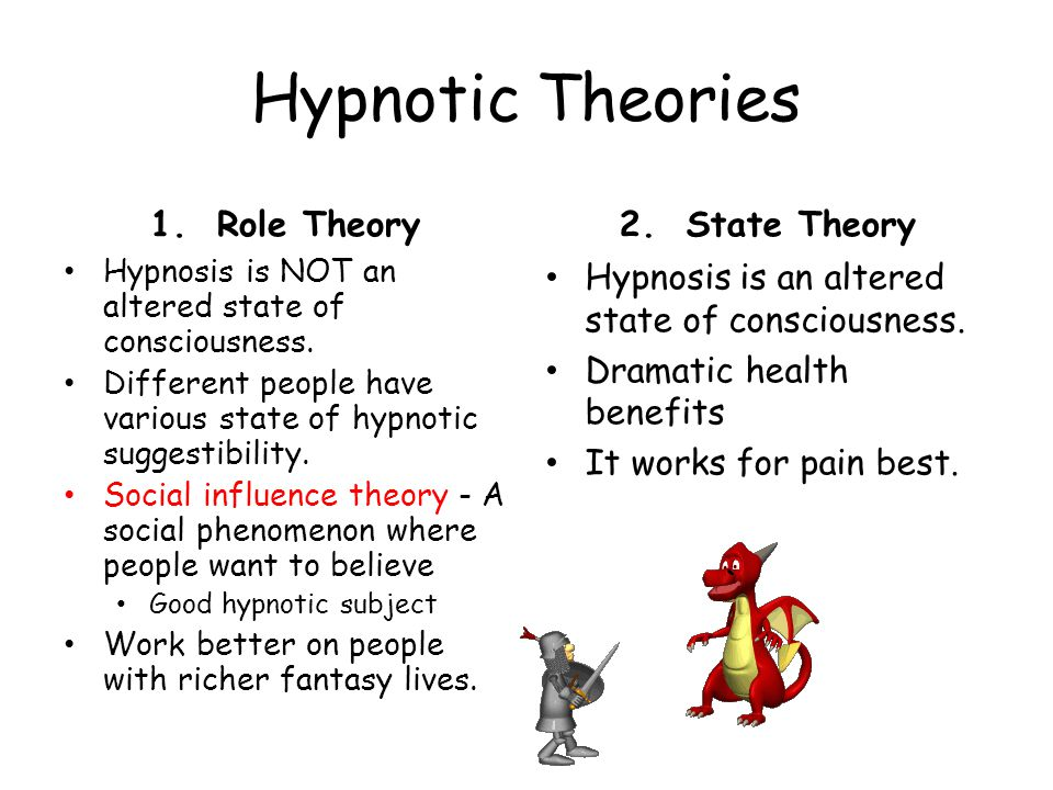 Hypnotic Theories 1. Role Theory 2. State Theory