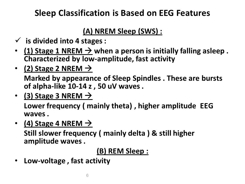 Sleep Classification is Based on EEG Features