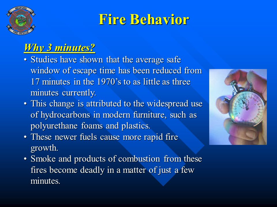 Fire Behavior Why 3 minutes