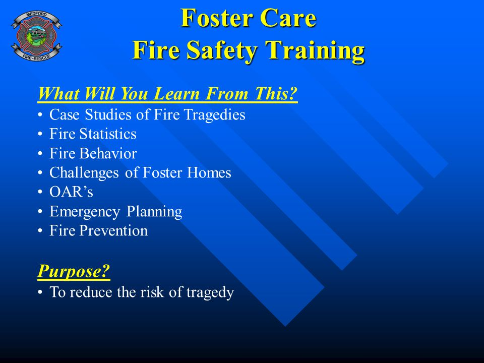 Foster Care Fire Safety Training
