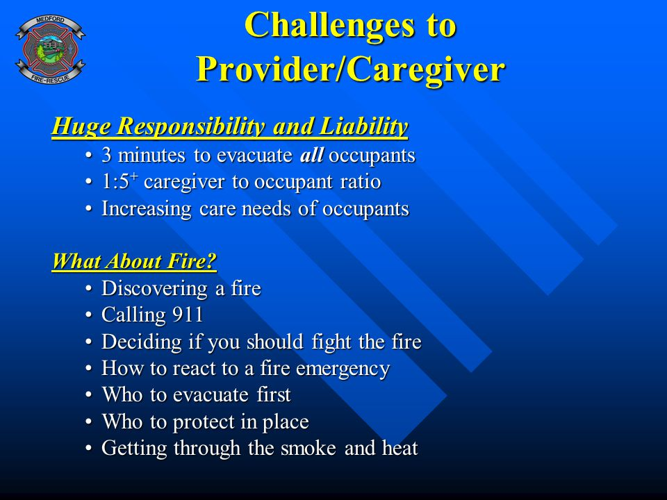 Challenges to Provider/Caregiver