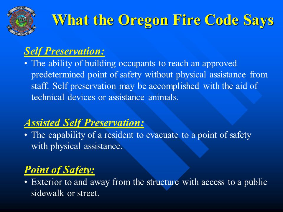 What the Oregon Fire Code Says