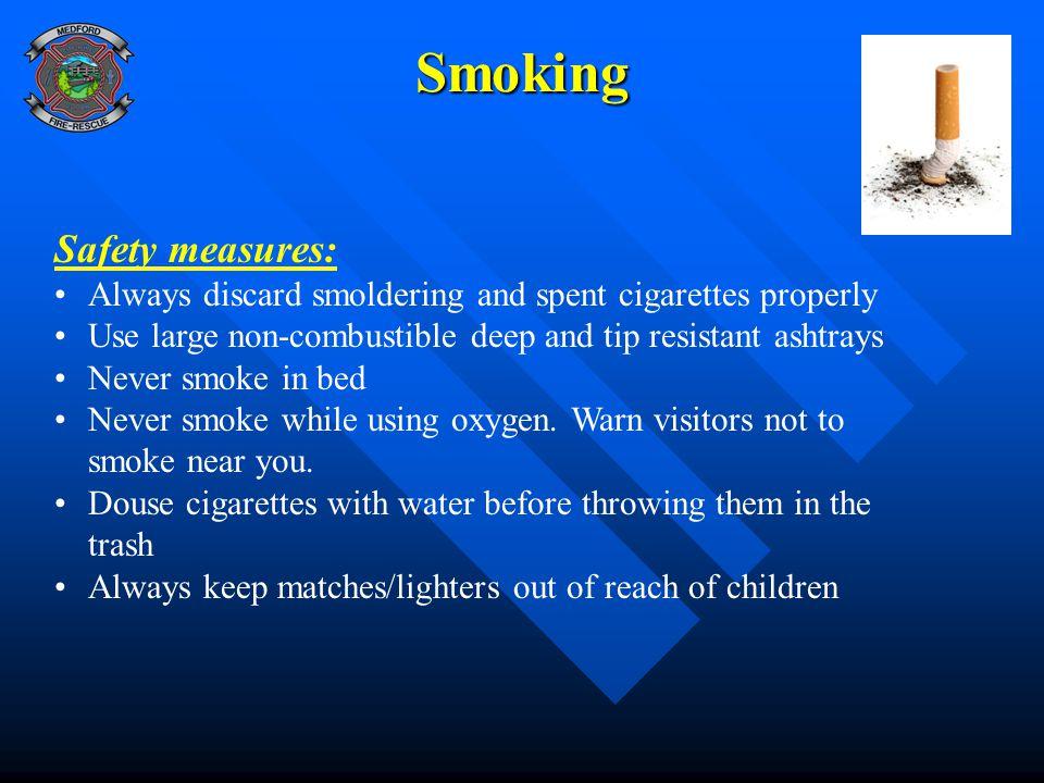 Smoking Safety measures: