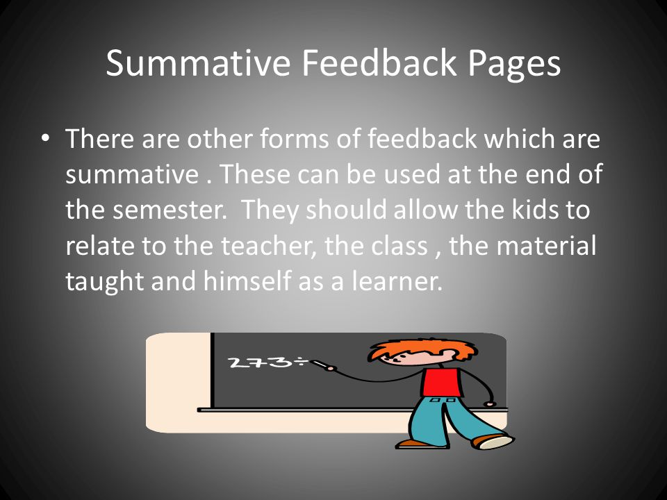 Summative Feedback Pages