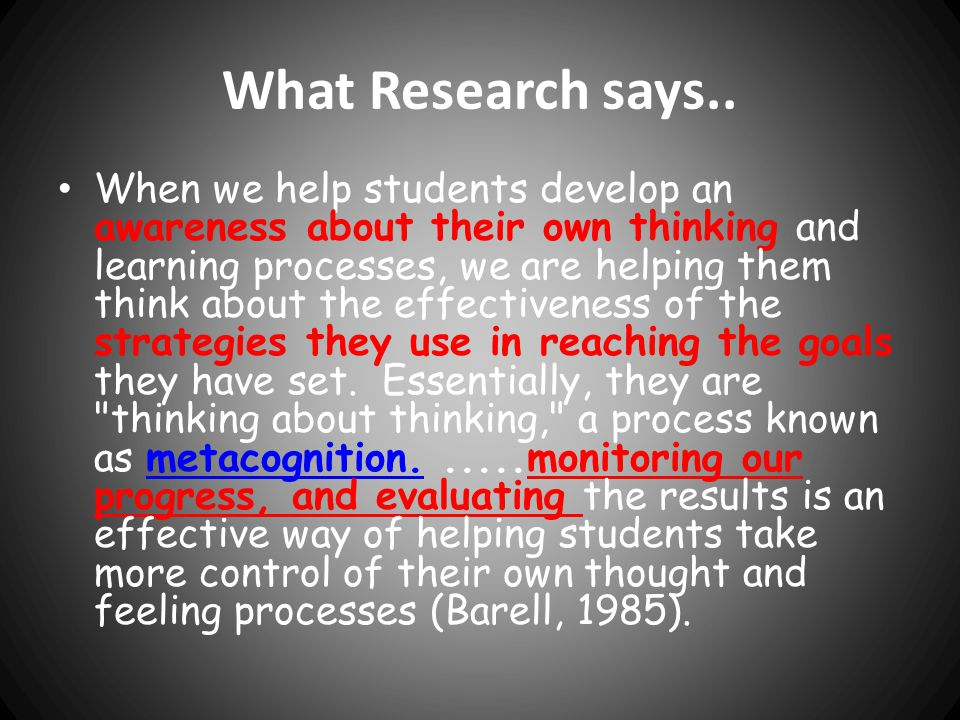 What Research says..