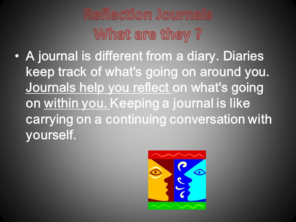 Reflection Journals What are they