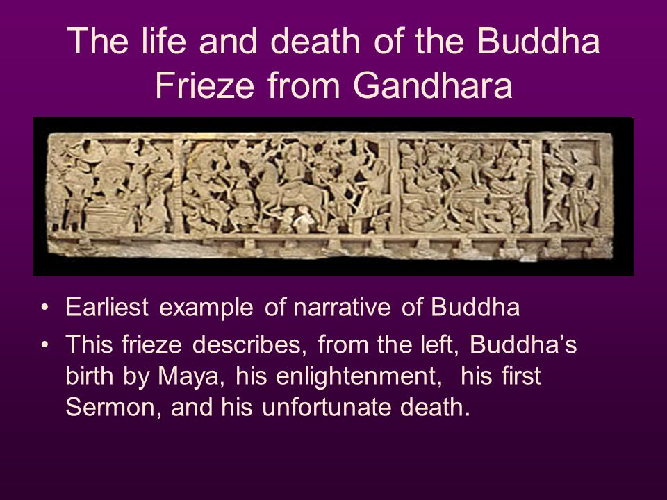 The life and death of the Buddha Frieze from Gandhara