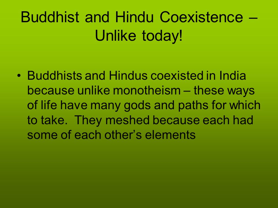 Buddhist and Hindu Coexistence – Unlike today!