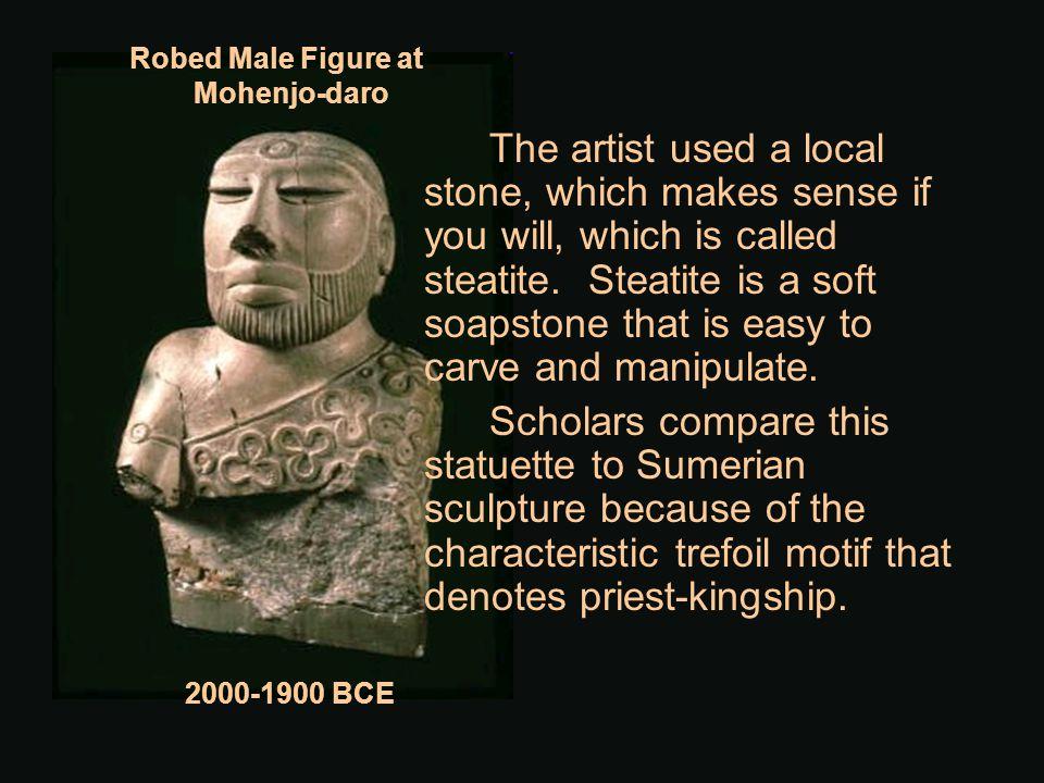 Robed Male Figure at Mohenjo-daro