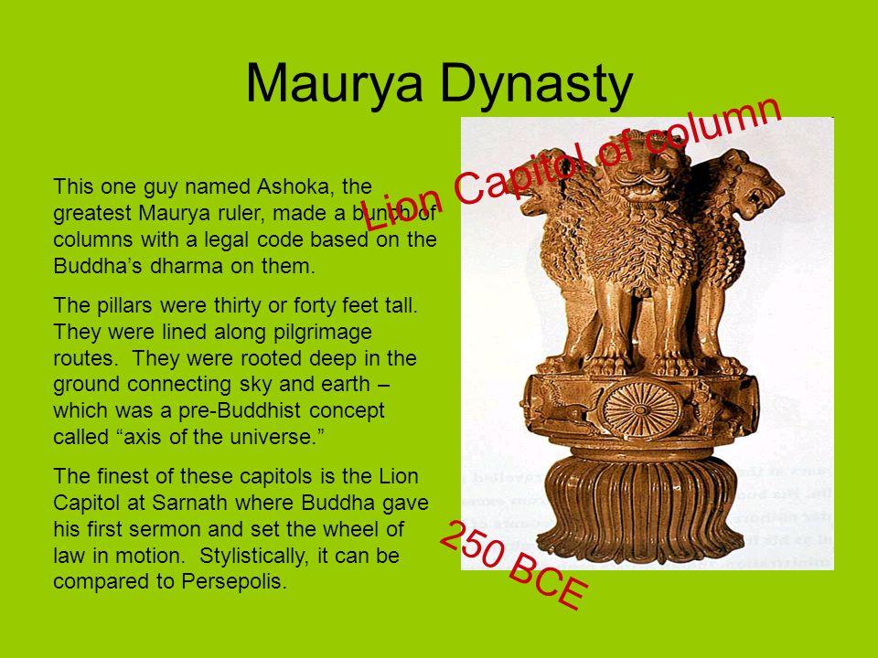 Maurya Dynasty Lion Capitol of column 250 BCE