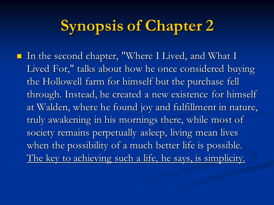 Synopsis of Chapter 2