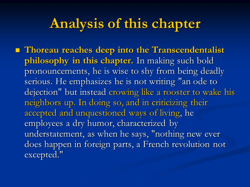 Analysis of this chapter