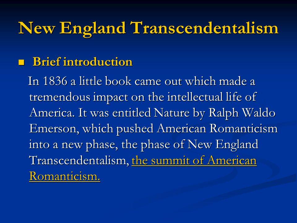 New England Transcendentalism