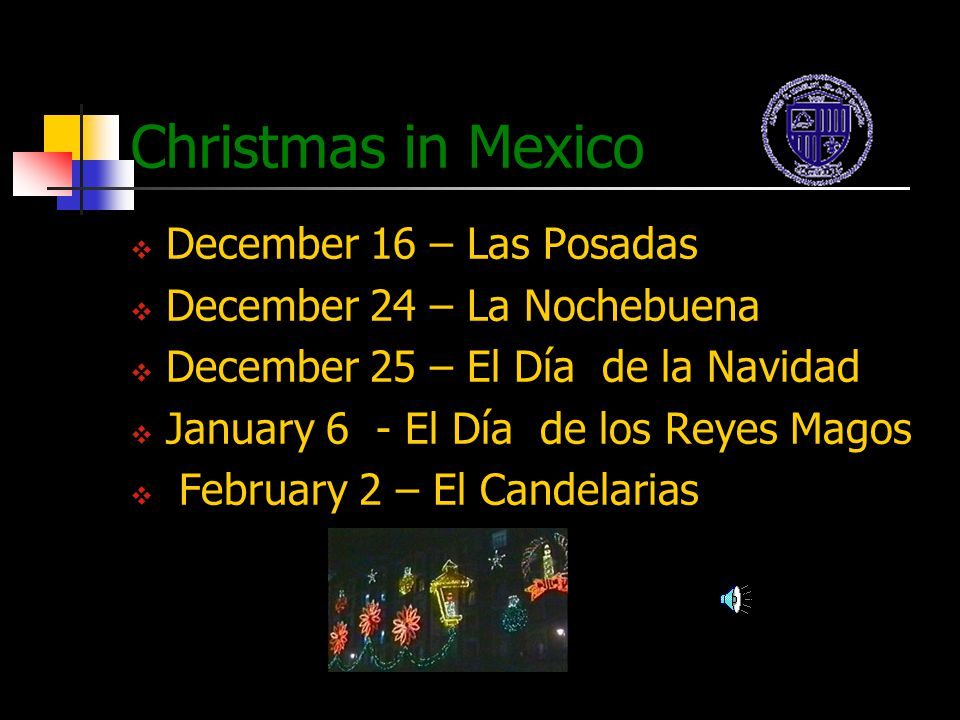 Christmas in Mexico December 16 – Las Posadas