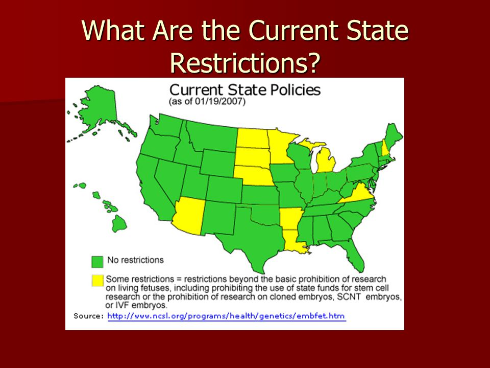 What Are the Current State Restrictions