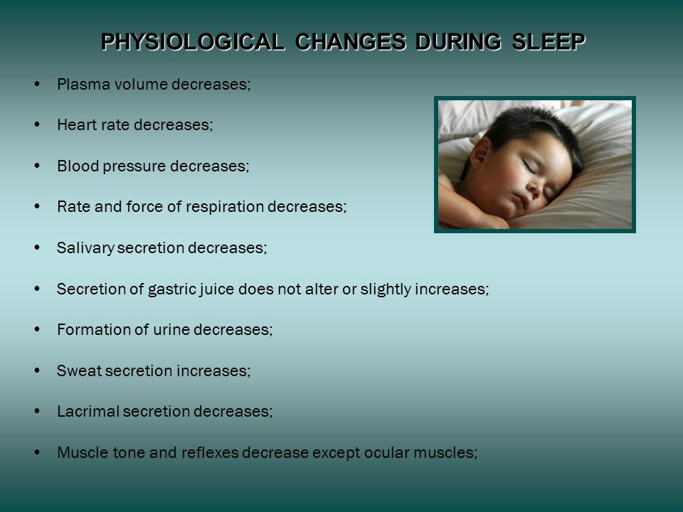 PHYSIOLOGICAL CHANGES DURING SLEEP