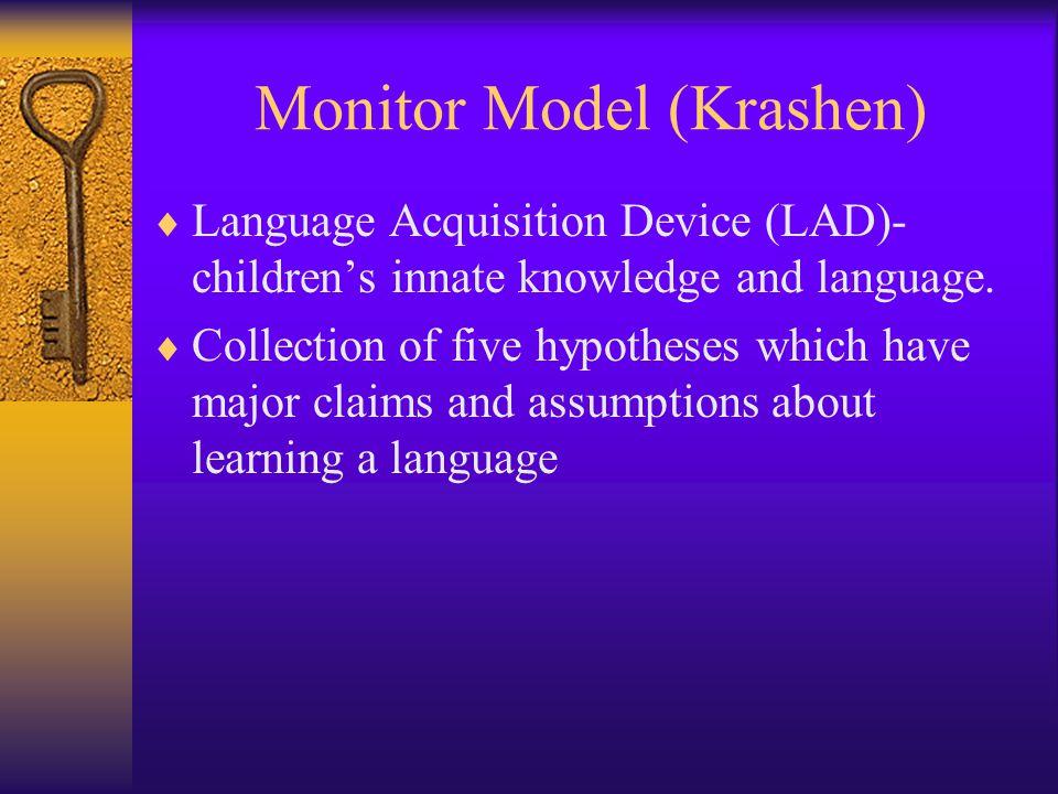 Monitor Model (Krashen)