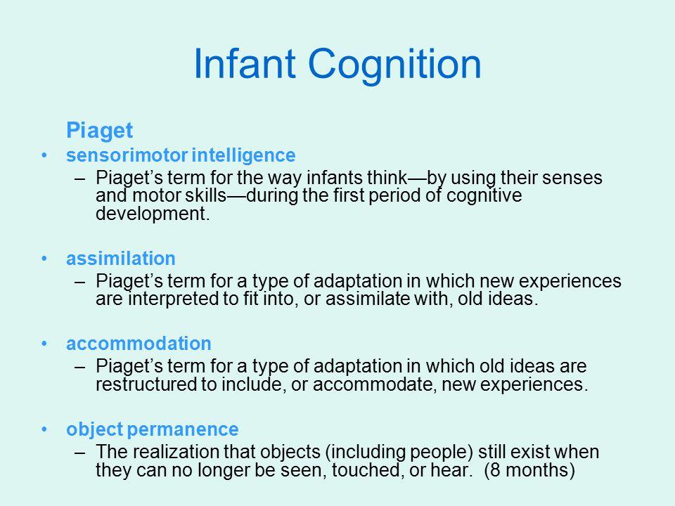 Infant Cognition Piaget sensorimotor intelligence