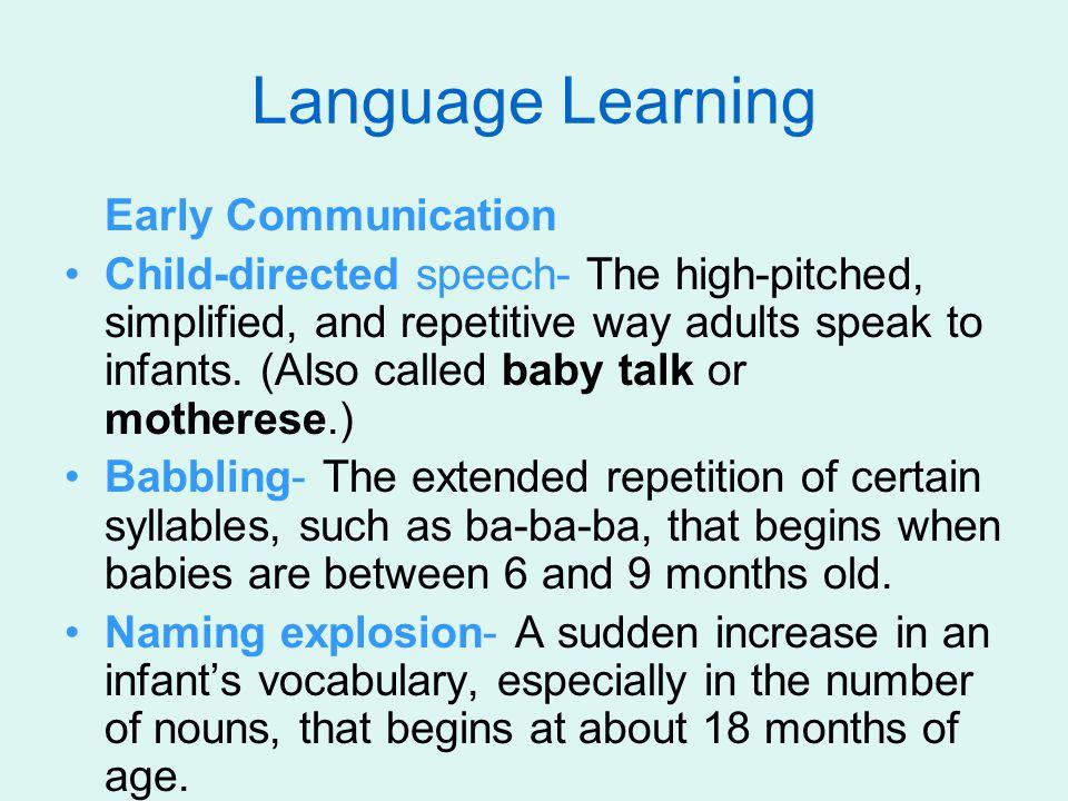 Language Learning Early Communication