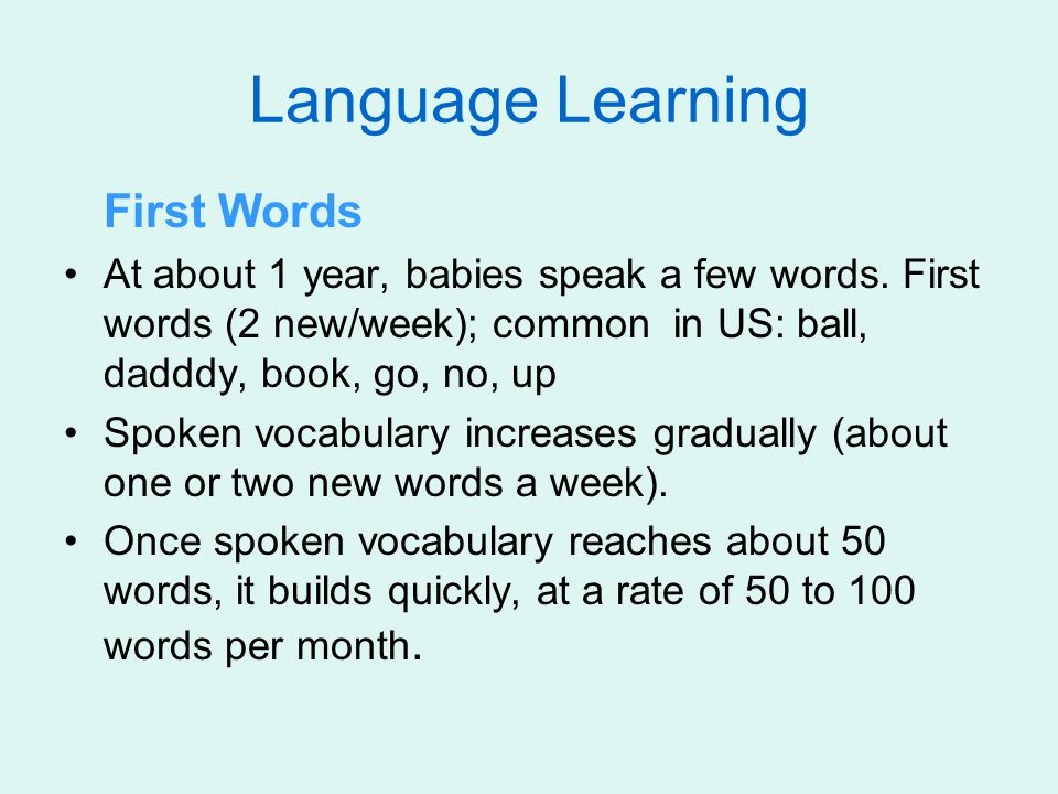 Language Learning First Words